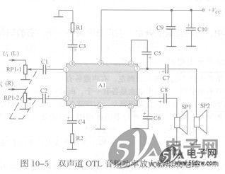 双声道OTL集成电路音频功率放大器图片