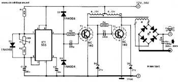 逆变器直流12V至240V DC电路图图片