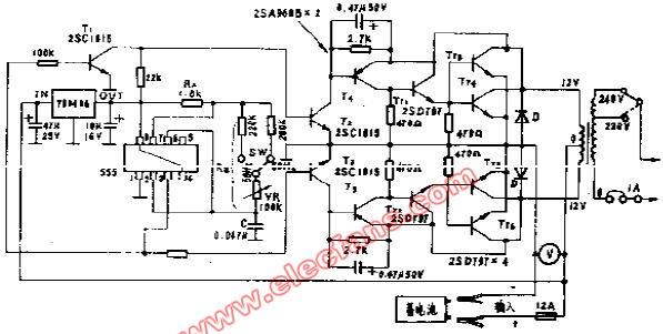 直流12V交流220V逆变器电路 国外电源电路图片