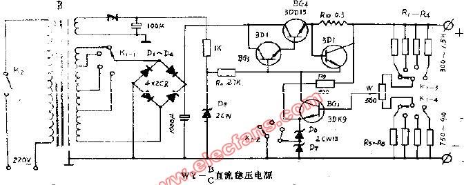 WY BC直流稳压电源电路图片