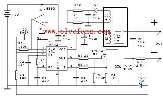 uc3845恒流源电路图图片