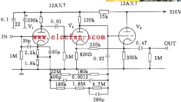 amn C22电子管均衡放大器电路图图片