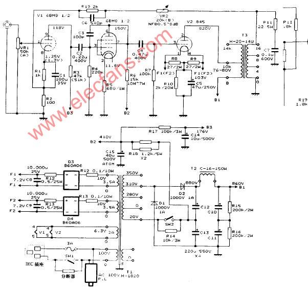 大功率功放原理图图片大全 大功率功放电路原理图音频电路