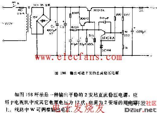 输出可达2A的直流稳压电源电路图图片