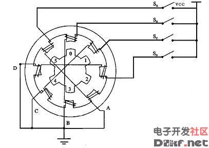四相步进电机原理图