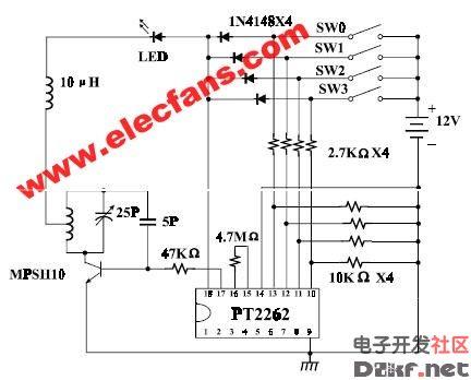 pt2262应用电路