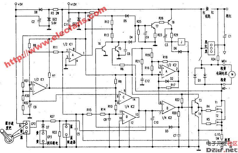 有刷电动车控制器电路图图片