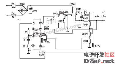 MC3842的典型应用电路
