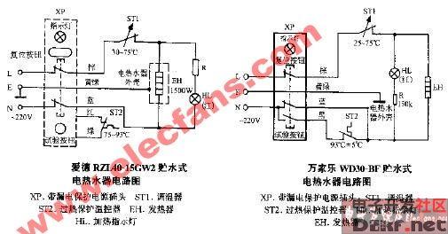 式电热水器电路图