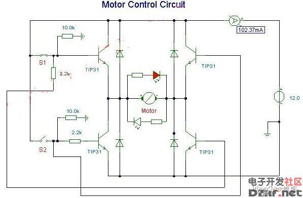 直流马达驱动电路求解,附原理图片