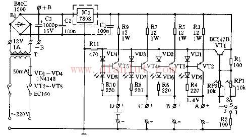 简易电池充电器电路图片