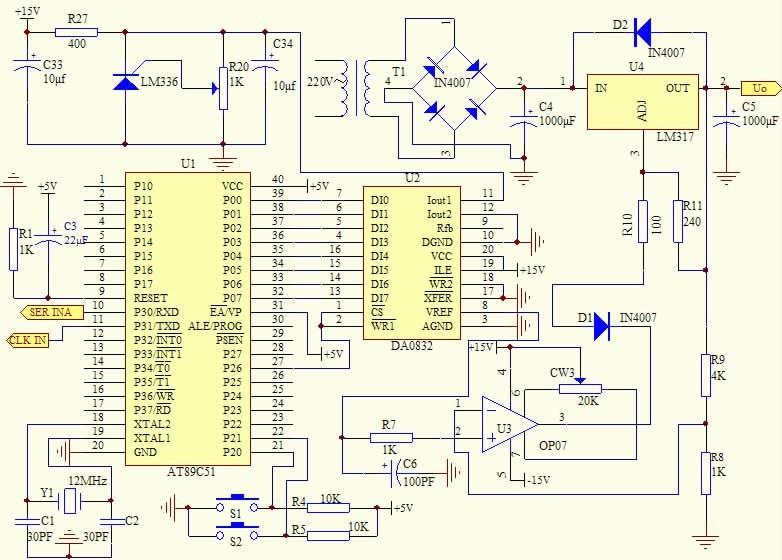 单片机的可编程直流稳压电源设计图片