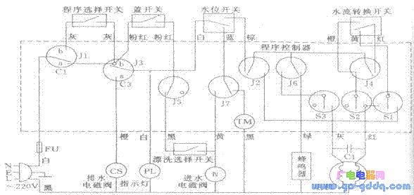 日立paf-910洗衣机电路图