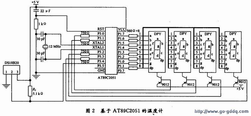 基于at89c2051的数字温度计设计