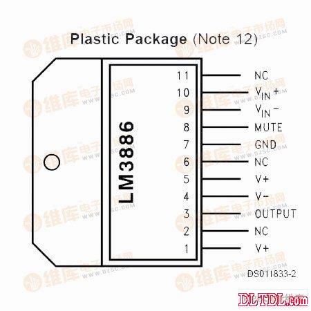 保护 功能 lm3886 有 两种 型号 lm3886tf 和 lm3886t 前者 ...