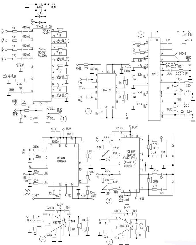 汽车音响专用btl型功放ic介绍及电路图