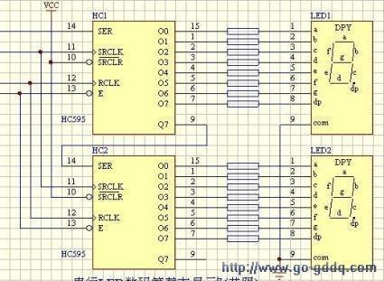 2位数码引脚图_74hc595引脚图简介
