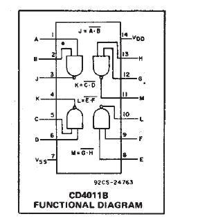 Микросхема cd4001be схема подключения
